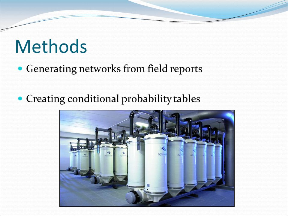 Methods Generating networks from field reports