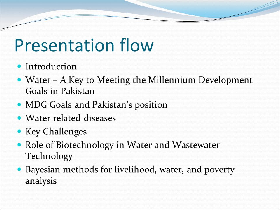 Presentation flow Introduction