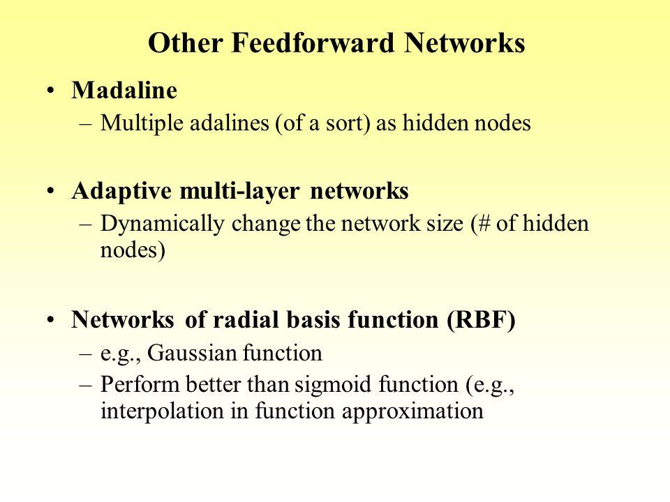 Other Feedforward Networks