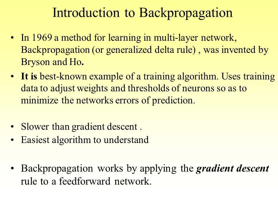 Introduction to Backpropagation