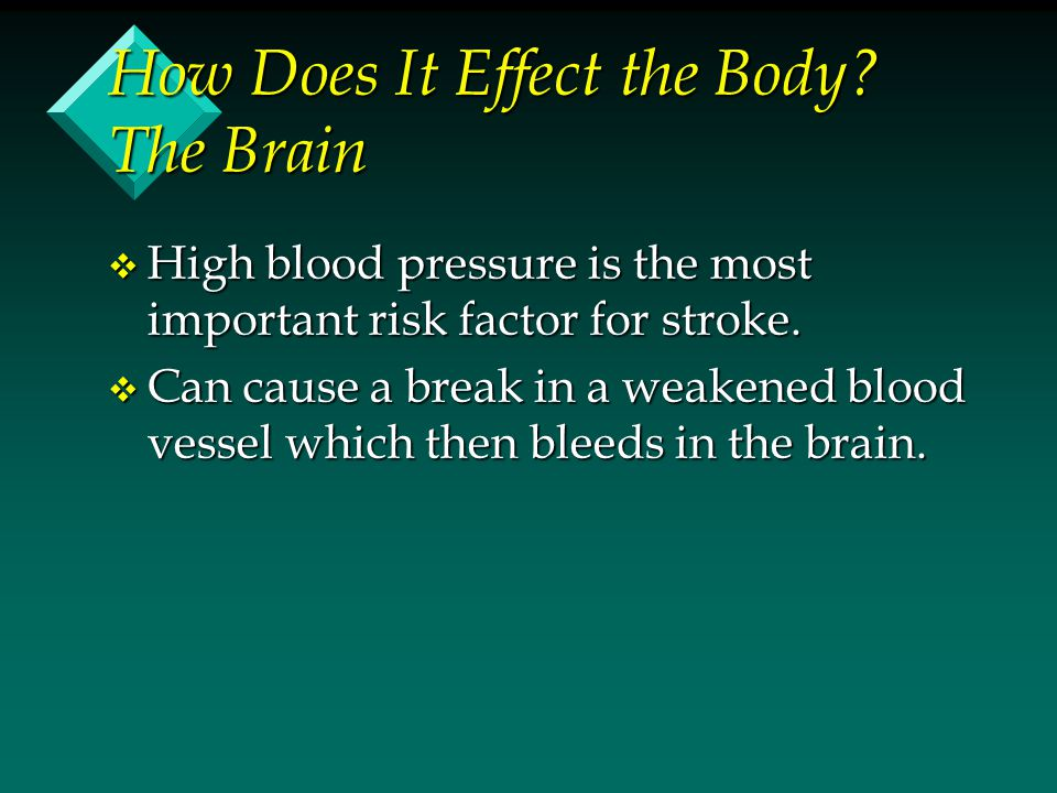 How Does It Effect the Body The Brain