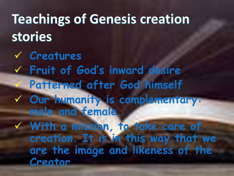 Teachings of Genesis creation stories