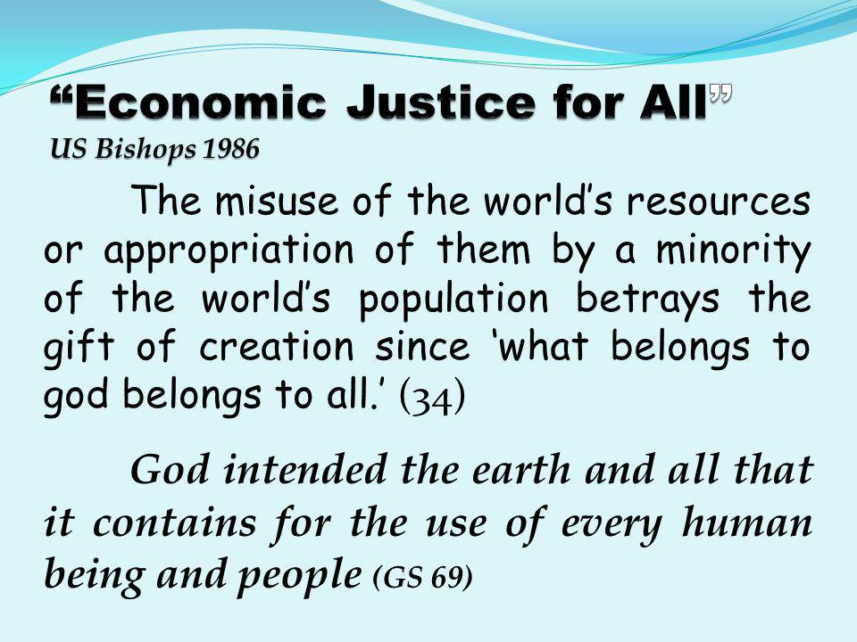 Economic Justice for All US Bishops 1986