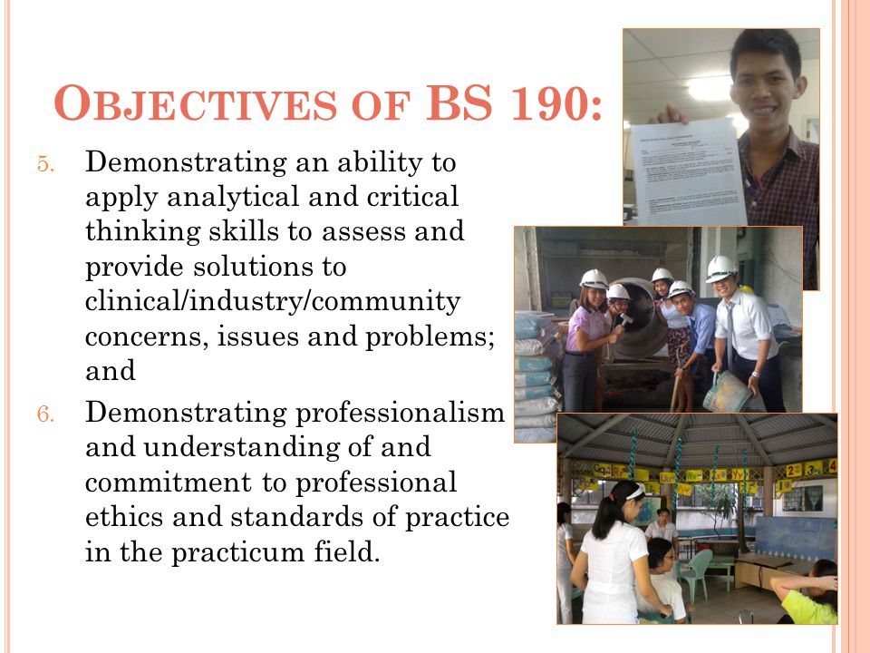 Objectives of BS 190: