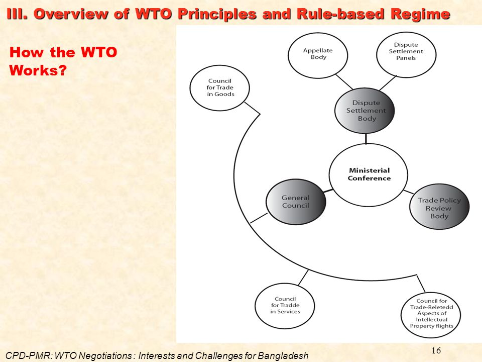 III. Overview of WTO Principles and Rule-based Regime