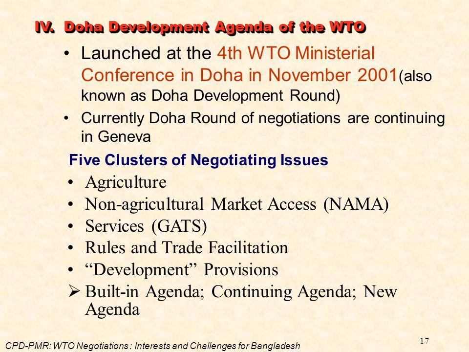 Non-agricultural Market Access (NAMA) Services (GATS)