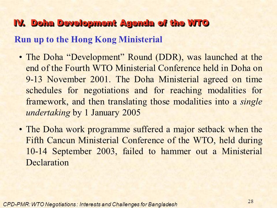 Run up to the Hong Kong Ministerial