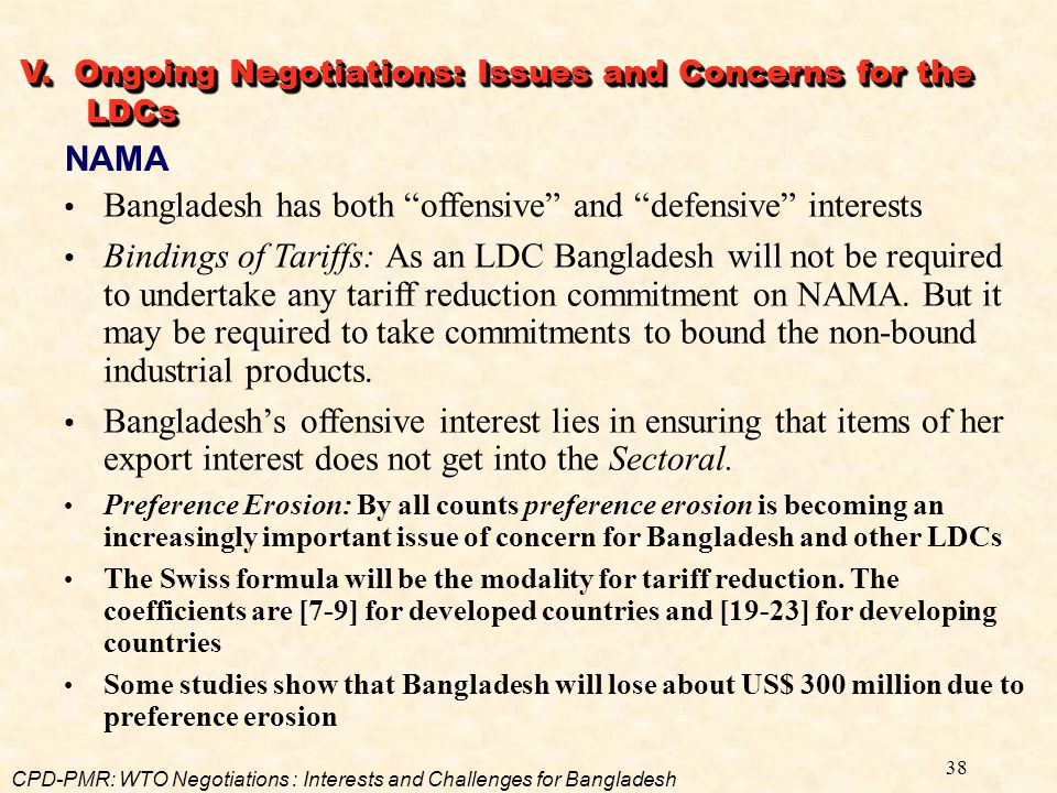 Bangladesh has both offensive and defensive interests