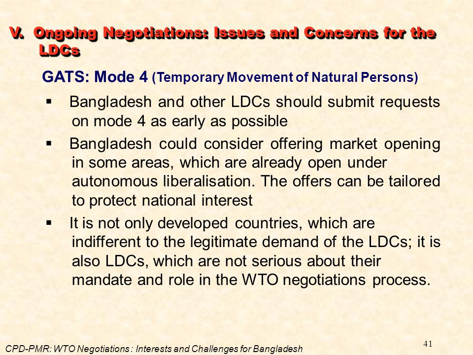 GATS: Mode 4 (Temporary Movement of Natural Persons)
