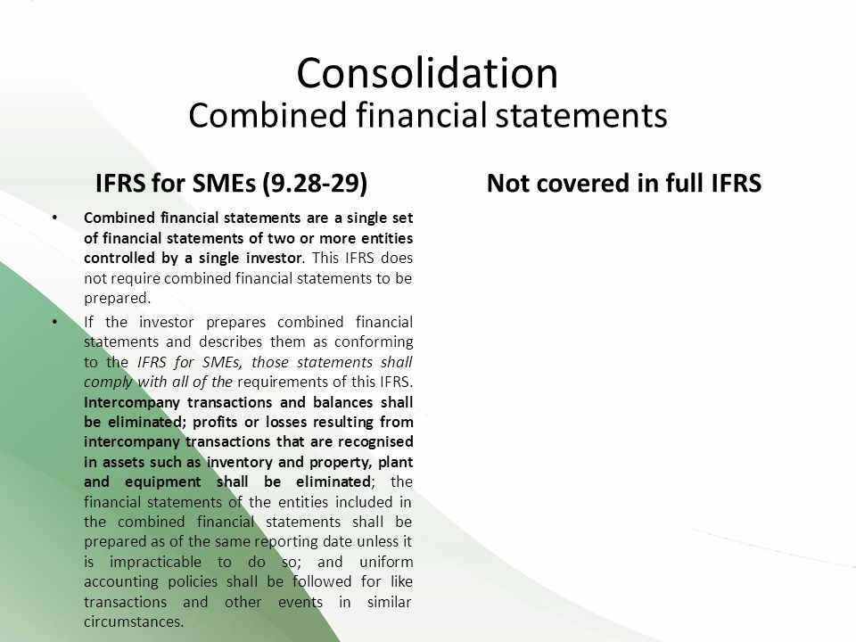 Combined financial statements