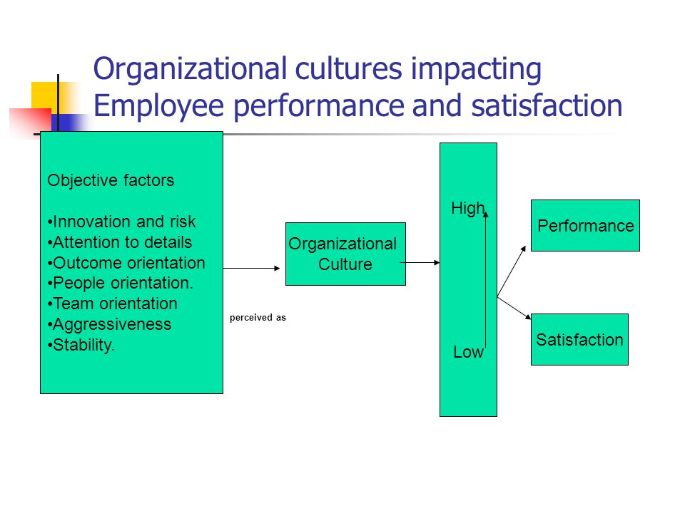 Organizational cultures impacting Employee performance and satisfaction