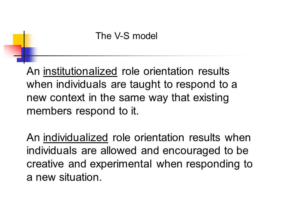 The V-S model