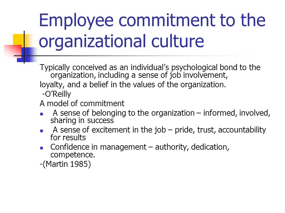 employee involvement and commitment Reading the third report in the series: employee engagement and commitment  to create each report, a subject matter expert with both research and practitioner.