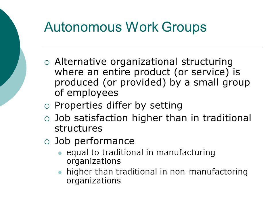 Autonomous Work Groups