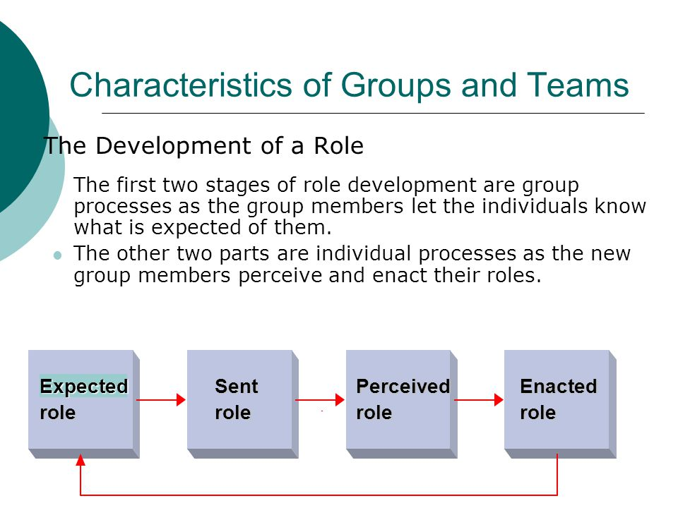 Characteristics of Groups and Teams