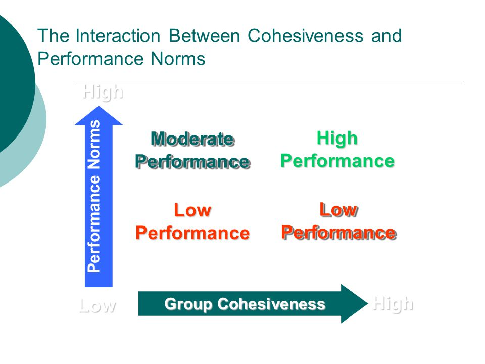 The Interaction Between Cohesiveness and Performance Norms