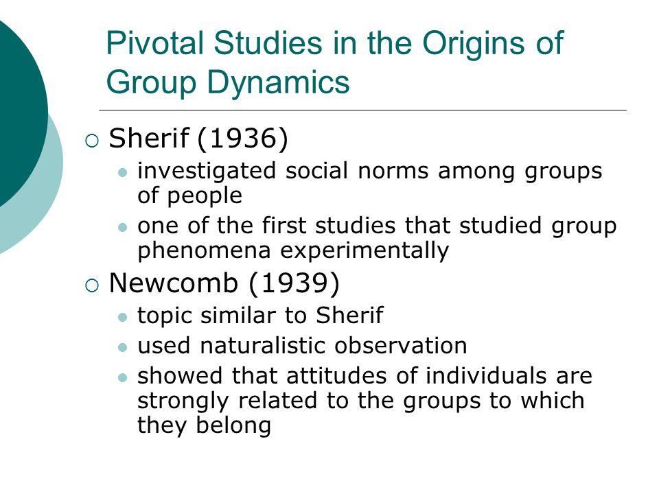 Pivotal Studies in the Origins of Group Dynamics