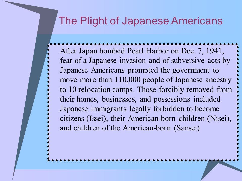The Plight of Japanese Americans