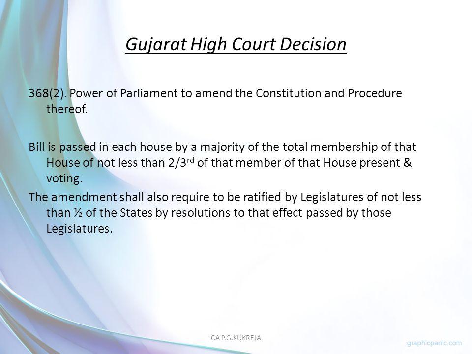 Gujarat High Court Decision