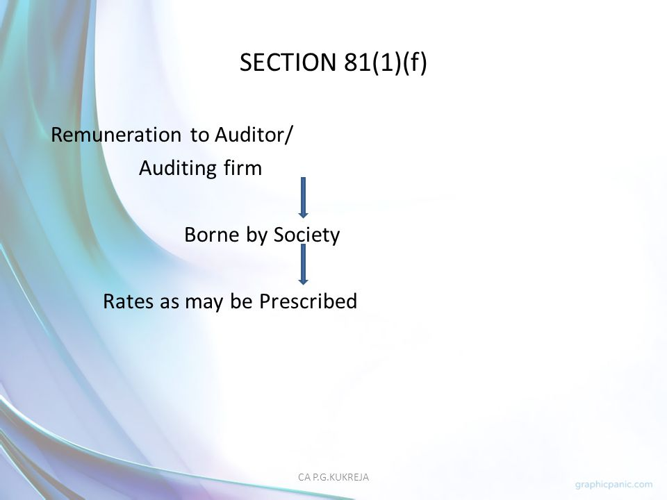 SECTION 81(1)(f) Remuneration to Auditor/ Auditing firm