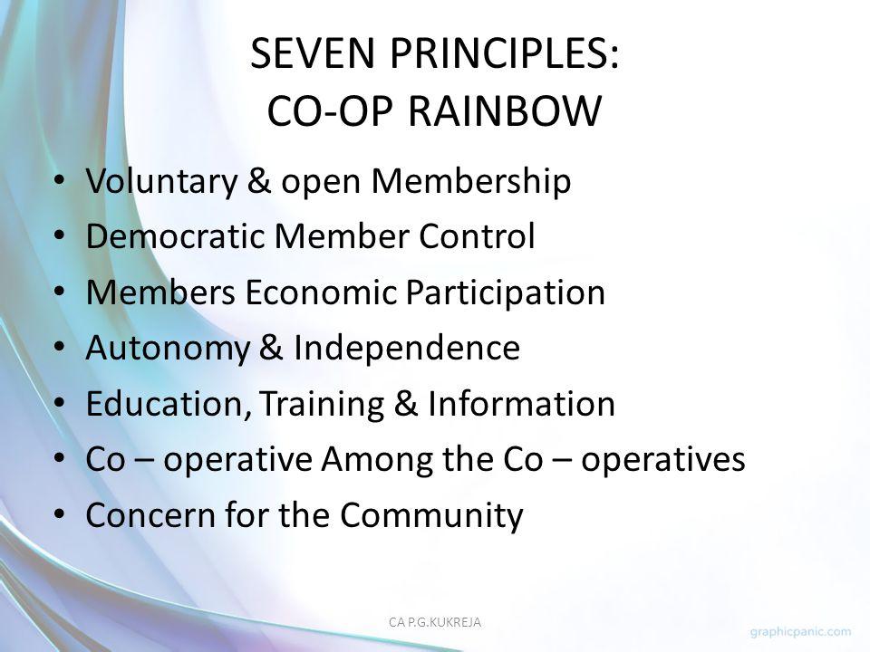 SEVEN PRINCIPLES: CO-OP RAINBOW