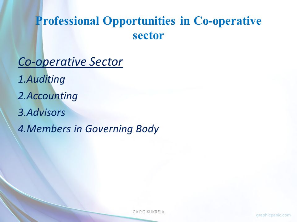 Professional Opportunities in Co-operative sector