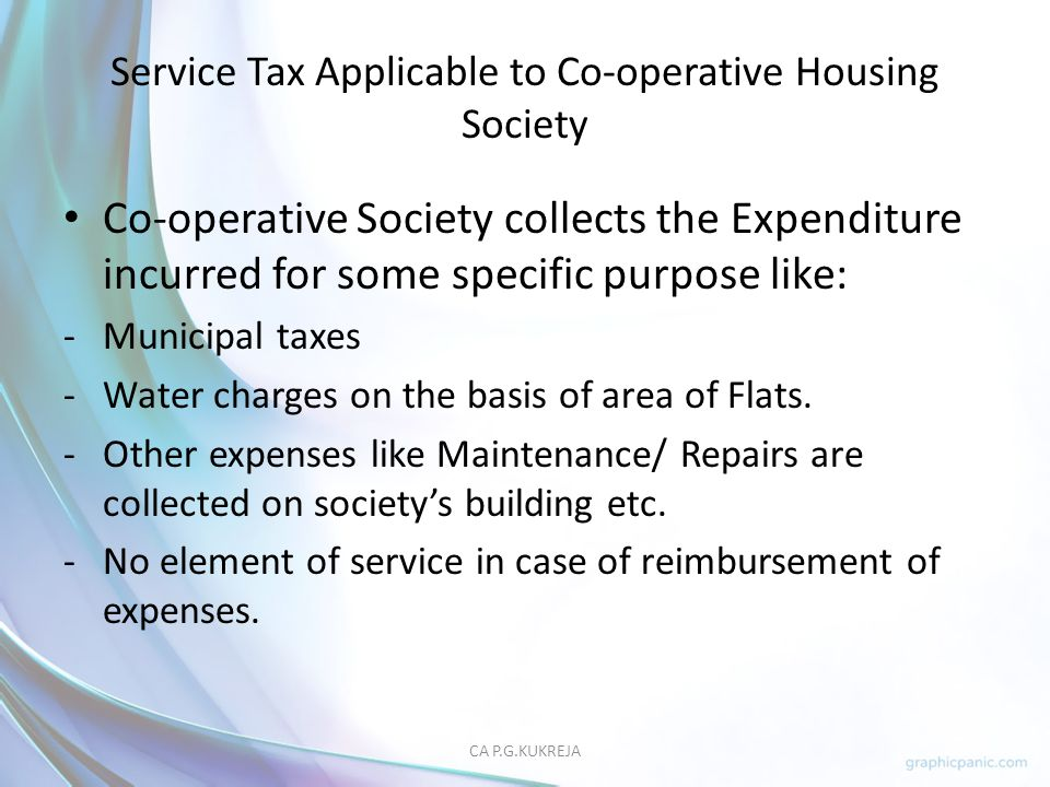Service Tax Applicable to Co-operative Housing Society