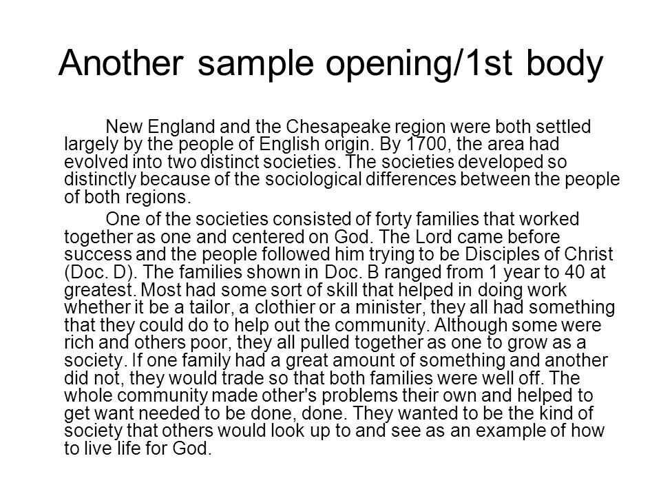 new england and chesapeake colonization essay A comparison between chesapeake and new  disclaimer: this essay  this article brings out the major differences that existed between chesapeake and new england.