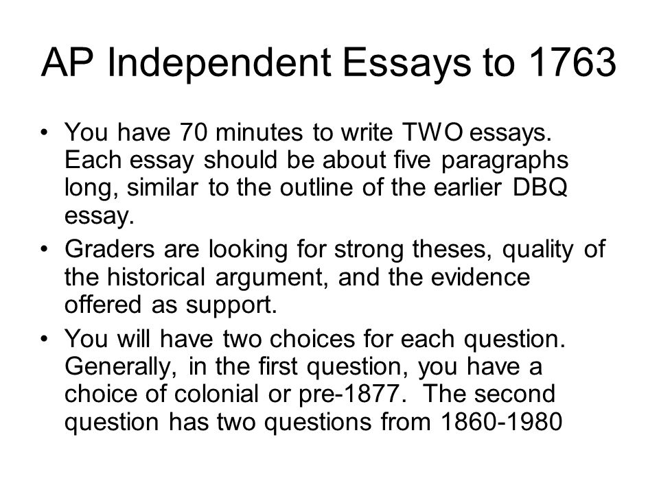 Colonial american history essay questions