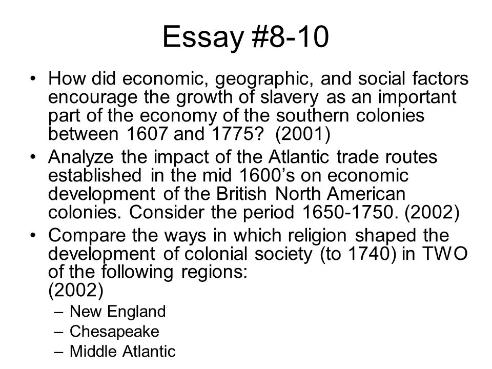 colonial period from 1607 to 1750 essay The british policy of salutary neglect supported colonial development in the period before 1750 of legislative assemblies, commerce and religious diversity analyze the cultural and economic responses of two of the following groups to the indians of north america before 1750.