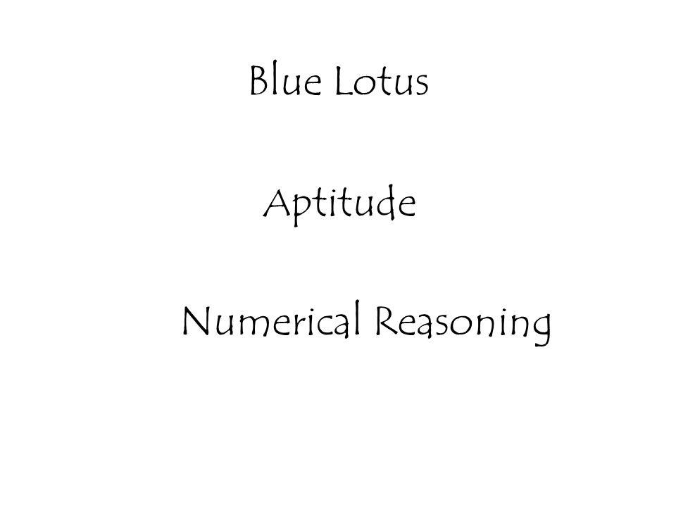 Aptitude Numerical Reasoning