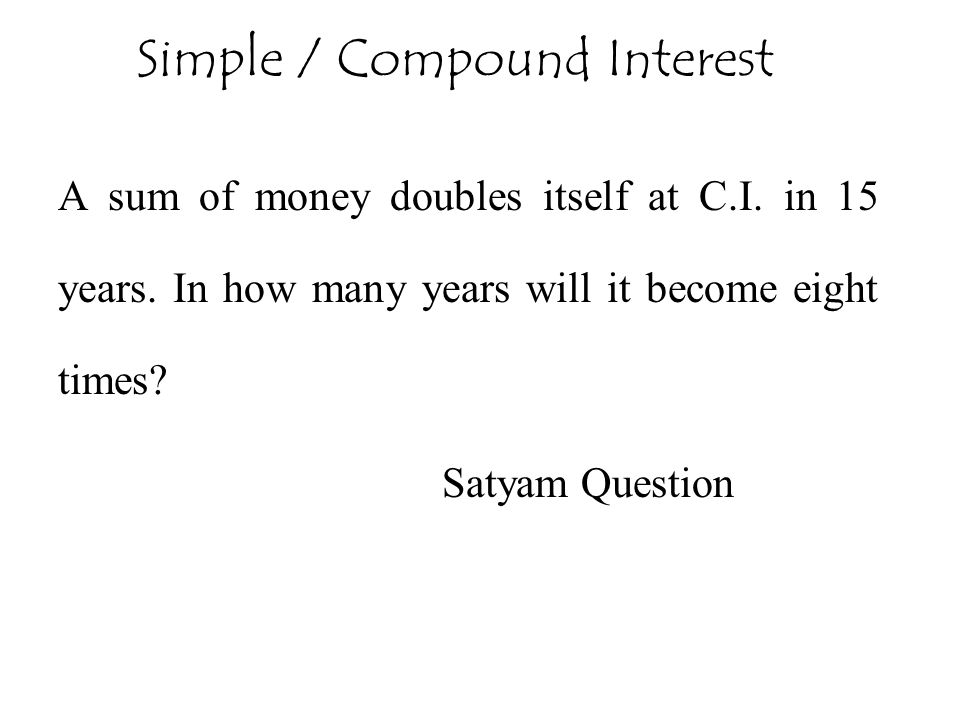 Simple / Compound Interest