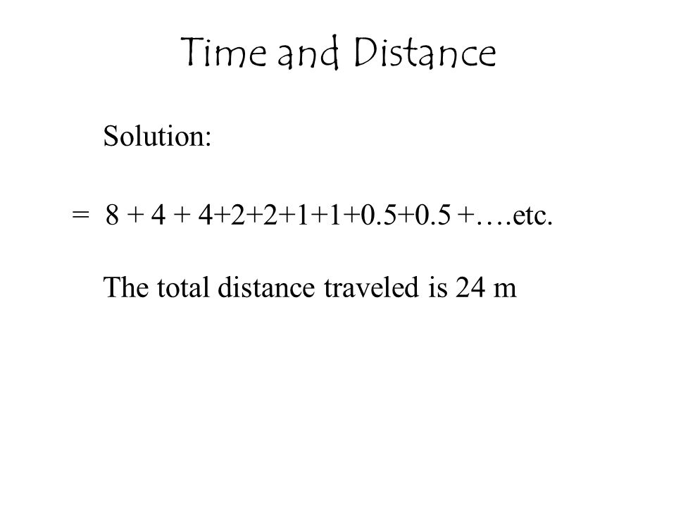 Time and Distance Solution: