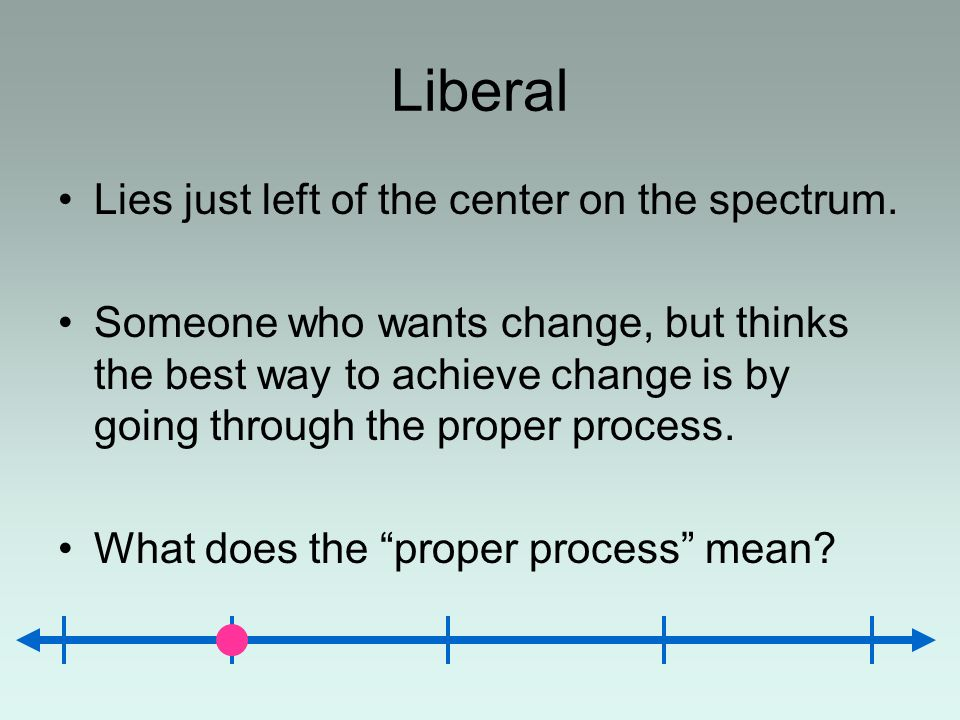 Liberal Lies just left of the center on the spectrum.