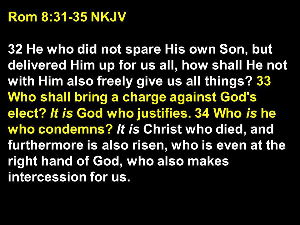 Rom 8:31-35 NKJV