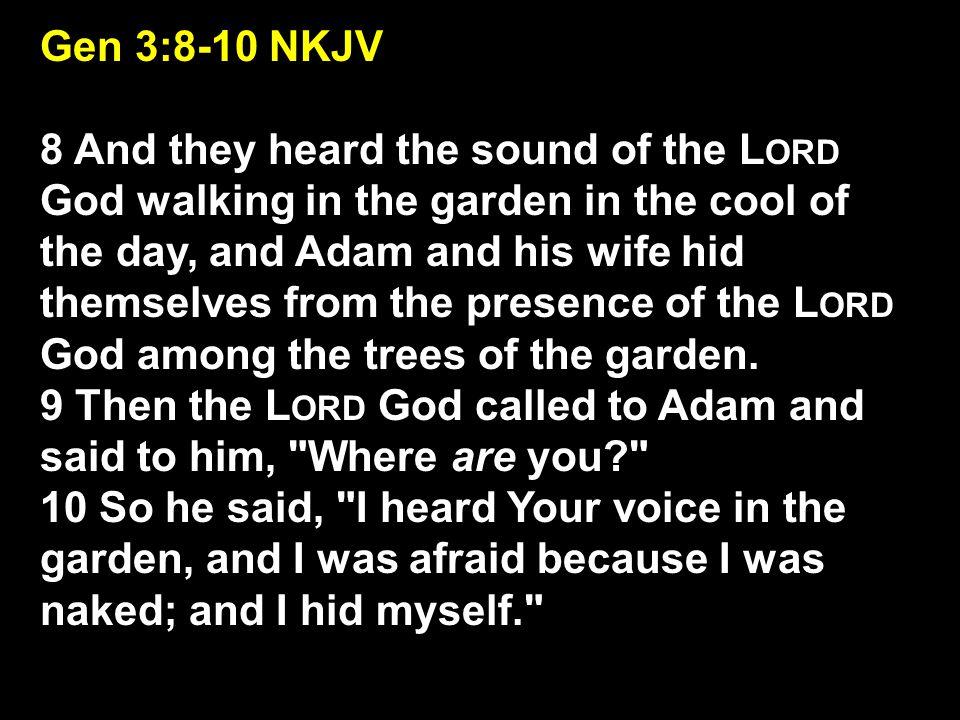 Gen 3:8-10 NKJV