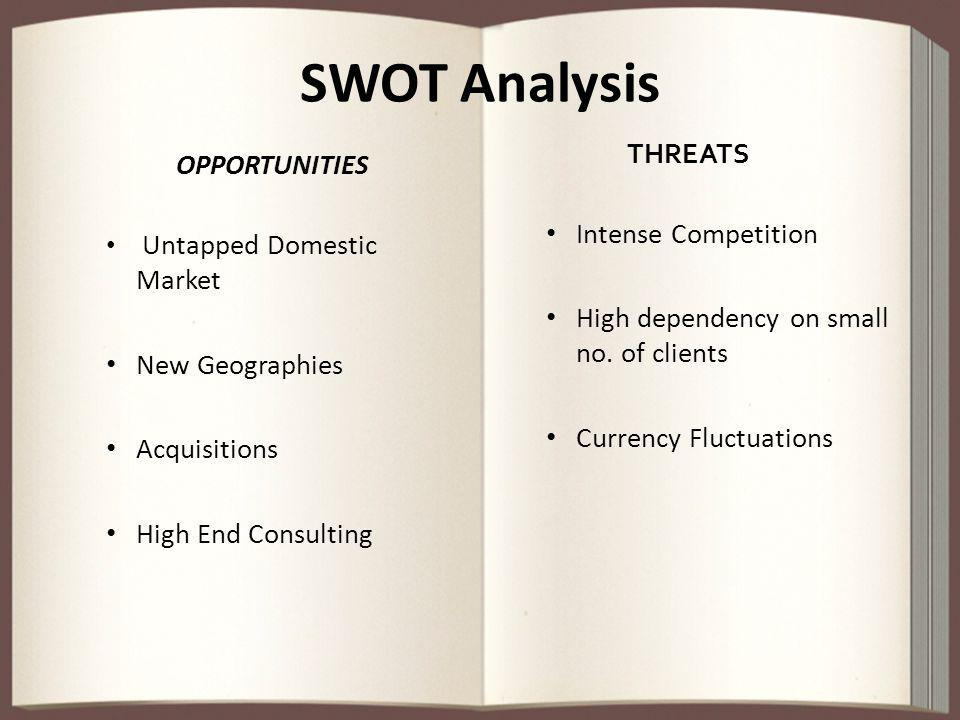 SWOT Analysis THREATS OPPORTUNITIES Intense Competition