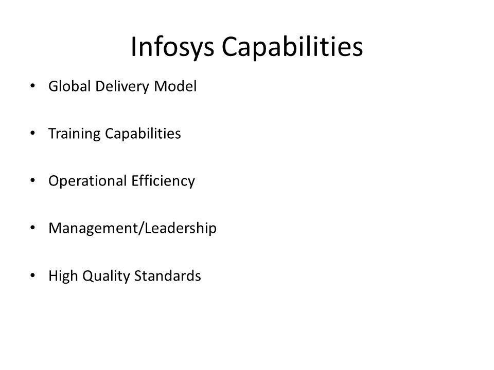 Infosys Capabilities Global Delivery Model Training Capabilities