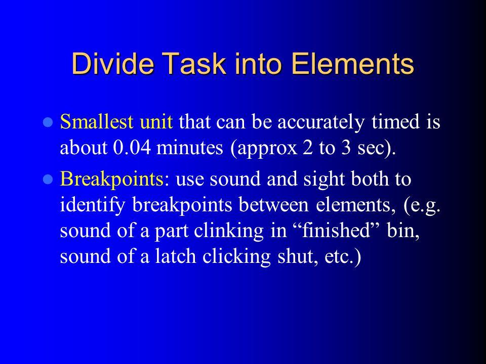 Divide Task into Elements