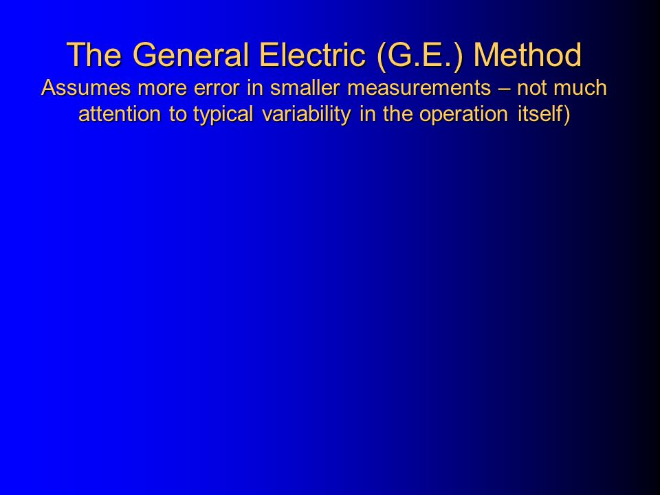 The General Electric (G. E