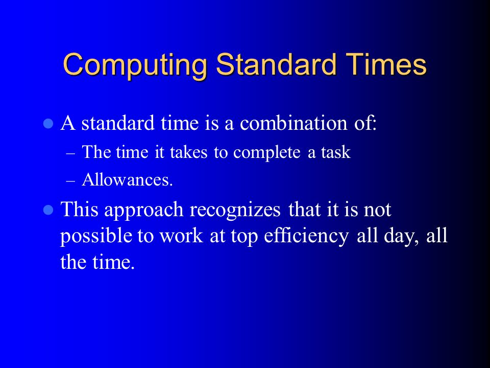 Computing Standard Times