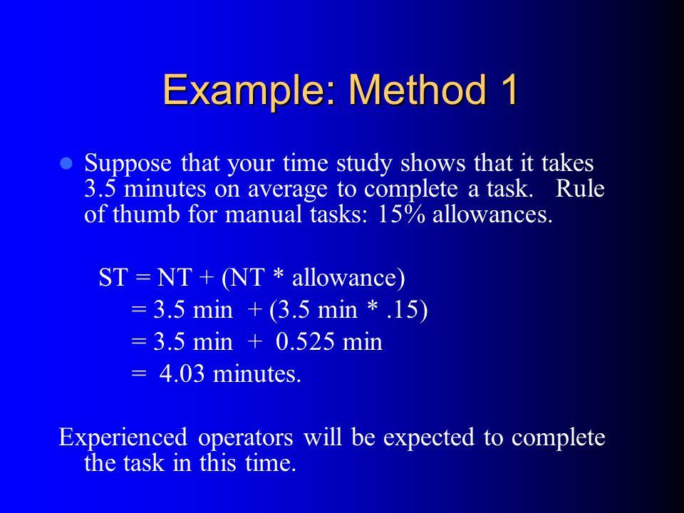 Example: Method 1