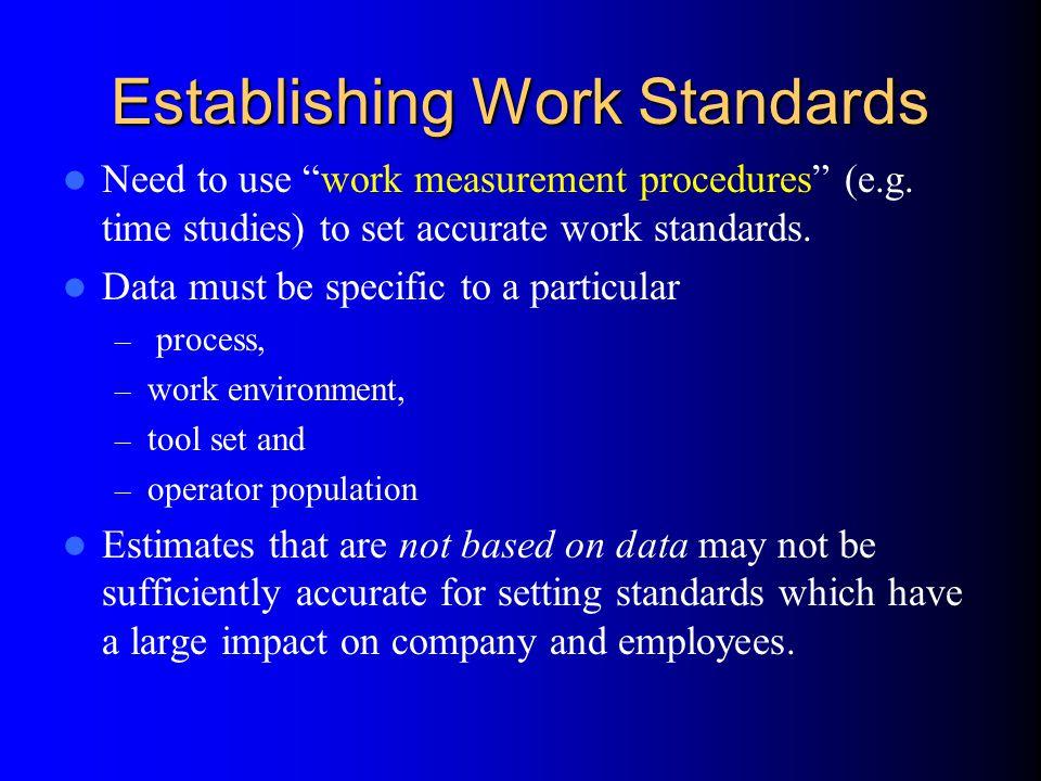 Establishing Work Standards