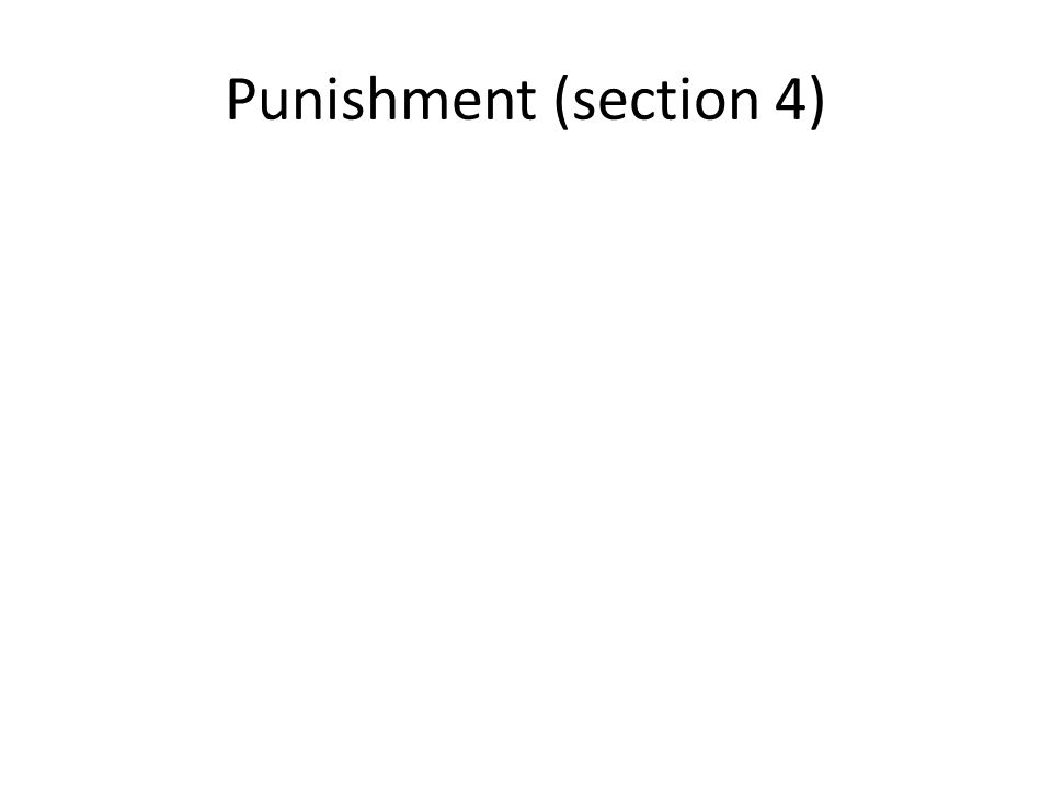 Punishment (section 4)