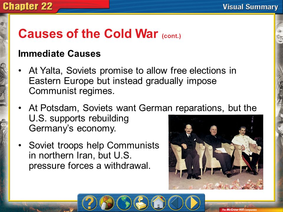 Causes of the Cold War (cont.)