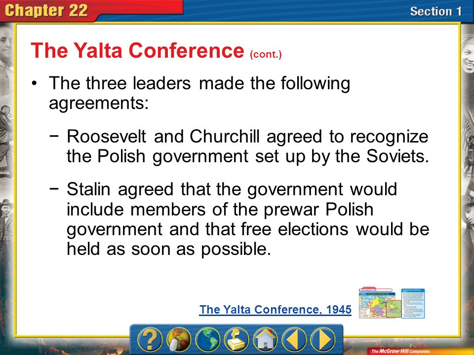 The Yalta Conference (cont.)