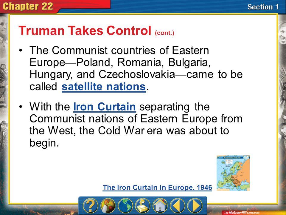 Truman Takes Control (cont.)