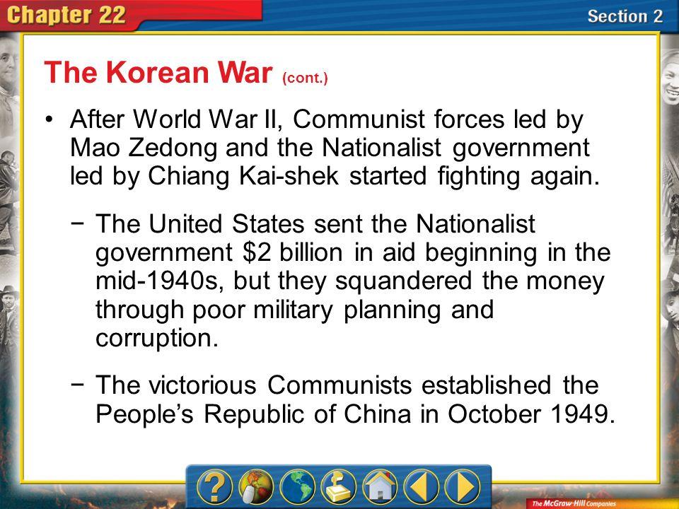The Korean War (cont.)