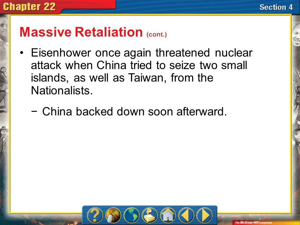 Massive Retaliation (cont.)