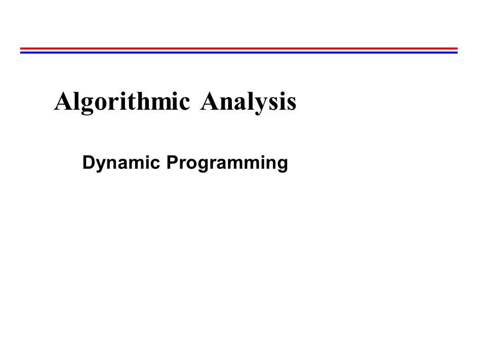 Algorithmic Analysis Dynamic Programming 35